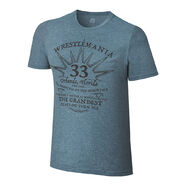WrestleMania 33 Grandest Stage Blue T-Shirt