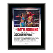 Bayley & Sasha Banks Battleground 2016 10 x 13 Commemorative Photo Plaque