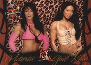 2004 WWE Divas 2005 (Fleer) Victoria & Gail Kim 62