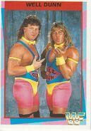1995 WWF Wrestling Trading Cards (Merlin) Well Dunn 34