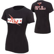 CM Punk Best In The World Black Version Women's Authentic T-Shirt