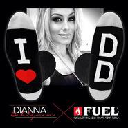 Dianna Dahlgren I Love DD Socks