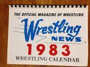 The Wrestling News 1983 Wrestling Calendar