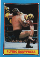 1987 WWF Wrestling Cards (Topps) Flying Bodypress (No.47)