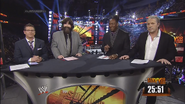 Josh Mathews, Mick Foley, Booker T & Bret Hart - WWE Survivor Series 2013 panelist team