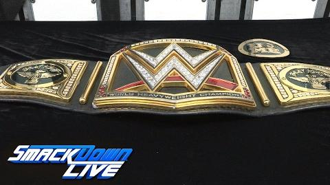 Bray Wyatt receives custom plates for his newly won WWE Championship Exclusive, Feb. 14, 2017