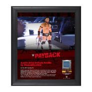 Neville Payback 2017 15 x 17 Framed Plaque w Ring Canvas