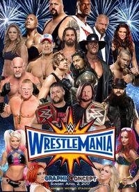 Wrestlemania 33 custom poster