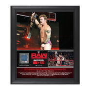 Chris Jericho First U.S. Championship Reign 15 x 17 Framed Plaque w Ring Canvas