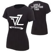 Dolph Ziggler World DZtruction Tour Women's Authentic T-Shirt