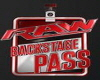 WWE RAW Backstag Pass