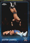 2015 Chrome WWE Wrestling Cards (Topps) Justin Gabriel 39