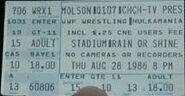 WWF Big Event ticket