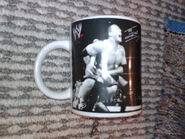 2002 WWF Coffee Mug The Rock & Kurt Angle