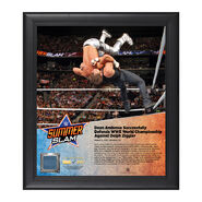 Dean Ambrose SummerSlam 2016 15 x 17 Framed Plaque w Ring Canvas