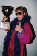 Larry Sweeney with Trophy