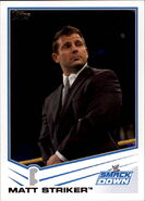 2013 WWE (Topps) Matt Striker 70