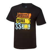 WrestleMania 33 Paint Black T-Shirt
