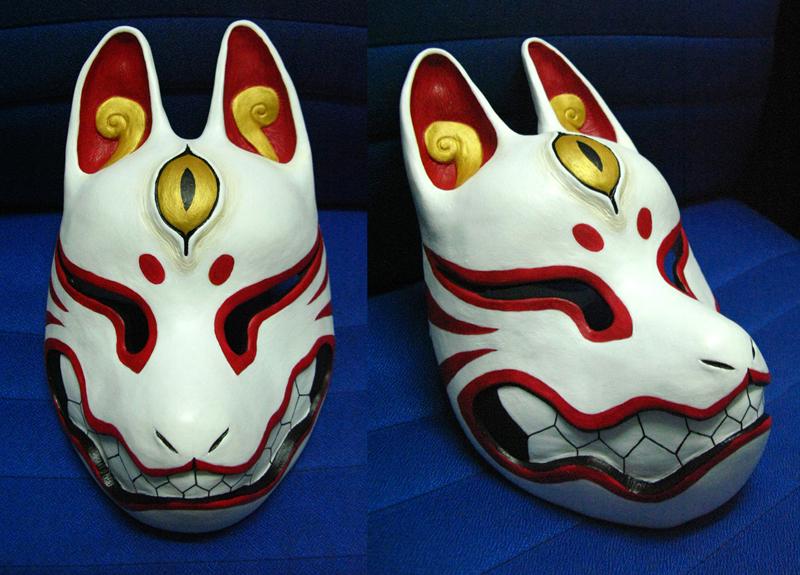 Kitsune mask by silverfox 5213-d4h5de0
