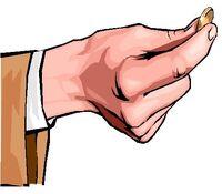 Pick a Coin hand coin