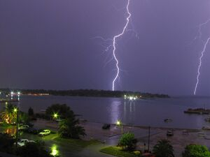Double Lightning in Glyfada-Athens