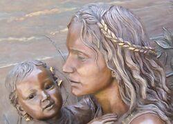 Mother,Child,ReliefSculpture,SoldierField,Chicago