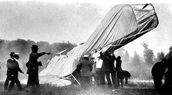 First powered aviation crash