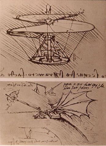 File:Leonardo da Vinci helicopter and lifting wing.jpg