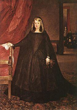 Margaret of Austria mourning 1666