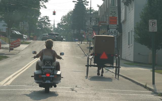 File:Amish vs modern transportation.jpg