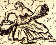 Temperantia Papstgrab Bamberg aus Gottfried Henschen u Daniel Papebroch 1747