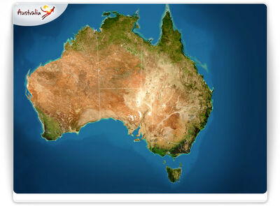 Australia Map TourismBoard 07142008