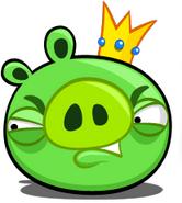 King Pig grimace