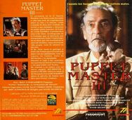 Puppet Master III Toulon's Revenge vhs argentino