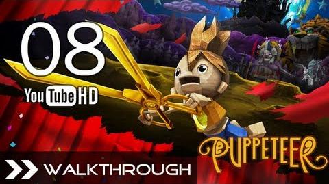 Puppeteer Walkthrough - Gameplay Part 8 (All That Glitters - Act 3 Curtain 2 - Octopus Boss) HD 1080p PS3 No Commentary