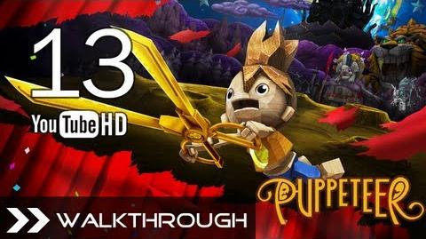 Puppeteer Walkthrough - Gameplay Part 13 (Fear of the Dark - Act 5 Curtain 1 - General Dog Boss) HD 1080p PS3 No Commentary