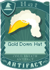 Gold Down Hat 3