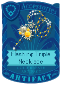Flashing triple necklace