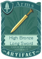 High Bronze Long Sword