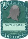 Wolf fur cloak