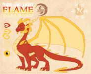 Pure liflame goldcrest by dragonoficeandfire-d9liz57