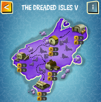 THE DREADED ISLES V map