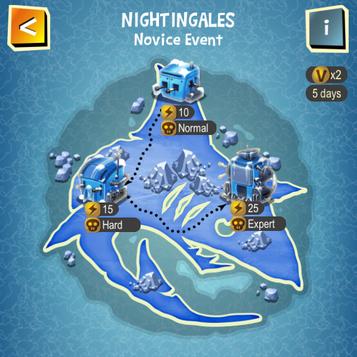 NIGHTINGALES map