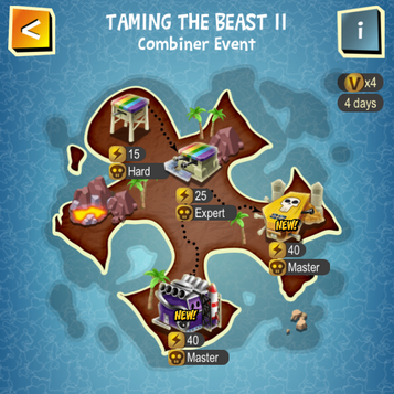 TAMING THE BEAST II map