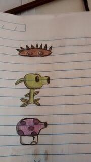 Spike, Pea and Fume