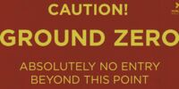 Ground Zero Warning Sign