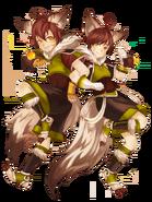 Iri and Jin (Twin Wizards) transparent