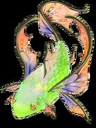 Rare Emerald Fish transparent