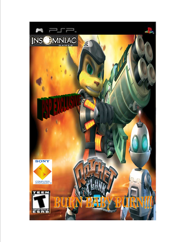File:Ratchet and clank burn baby burn box art.png