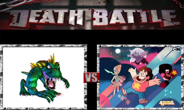 File:DEATH BATTLE Idea - Lizzie Vs. The Crystal Gems.png